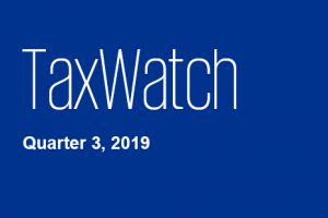 TaxWatch Quarter 3 2019